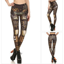 Baodilang 2017 Fashion Design Leggings Women Steampunk Star Wars leggin Women High Waist Mechanical Gear 3D Print Cosplay Pants
