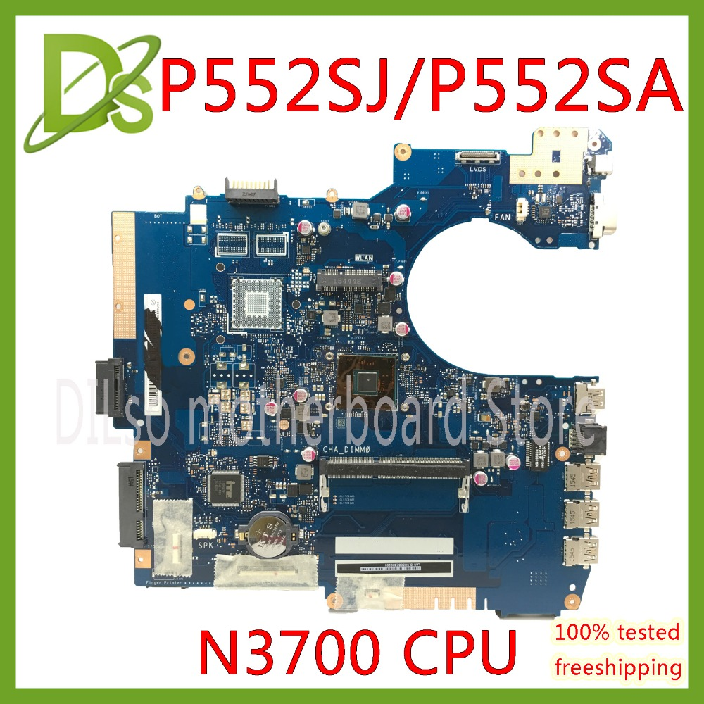 KEFU P552SA For ASUS P552SJ PU552SJ PRO552S P552S PU552S P552SA Laptop motherboard N3700 CPU GM Test motherboard