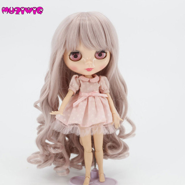 High Quality Synthetic Milk Pink Spiral Curly Wavy Baby Doll Wigs