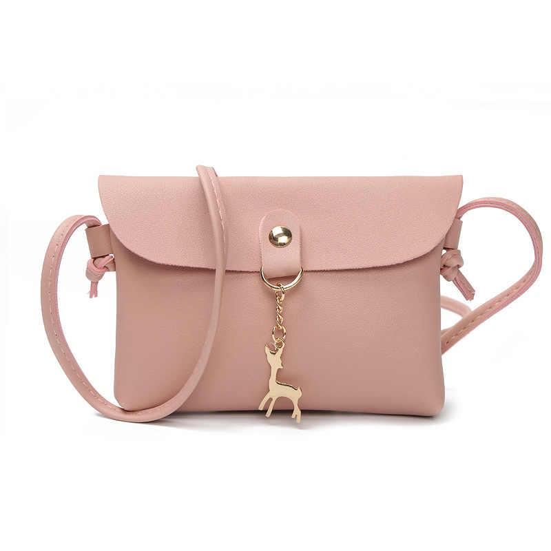 Для женщин курьерские Сумки Новые творческие карамельный цвет олень мобильный телефон сумка 2019 Весна Милая Леди Tote высокое качество