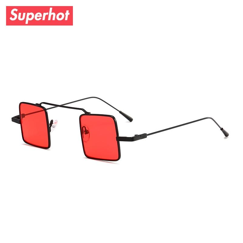 e23b4888f9f Superhot Eyewear 2018 Small Square Sunglasses Men Women Metal Sun glasses  Tinted Clear Lenses Retro Vintage