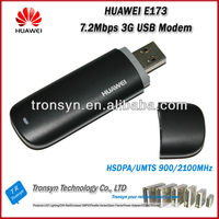 Atacado original desbloqueado hsdpa 7.2 mbps huawei e173 3g usb modem e modem 3g usb dongle com slot para cartão sim