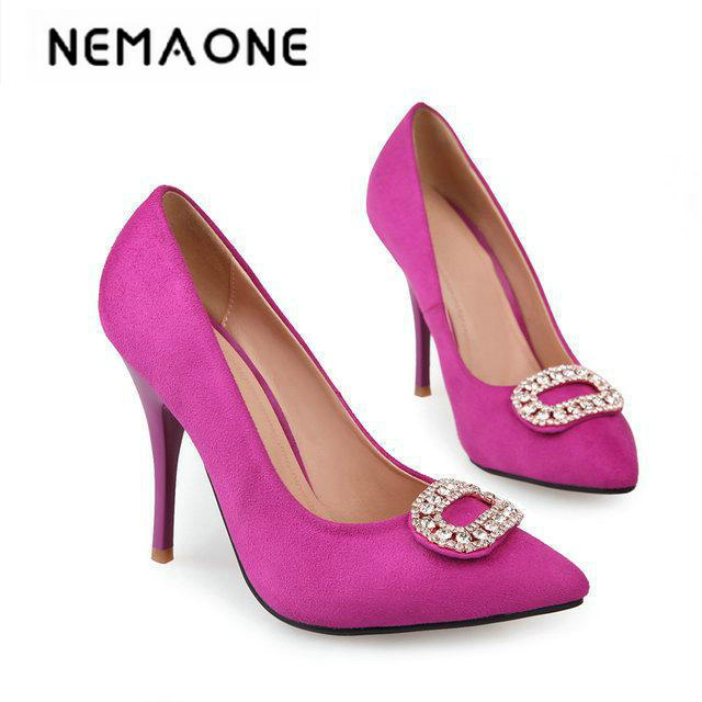 Sexy Red Bottom Pointed Toe High Heels Women Pumps Shoes Brand New Design Less Platform Pumps