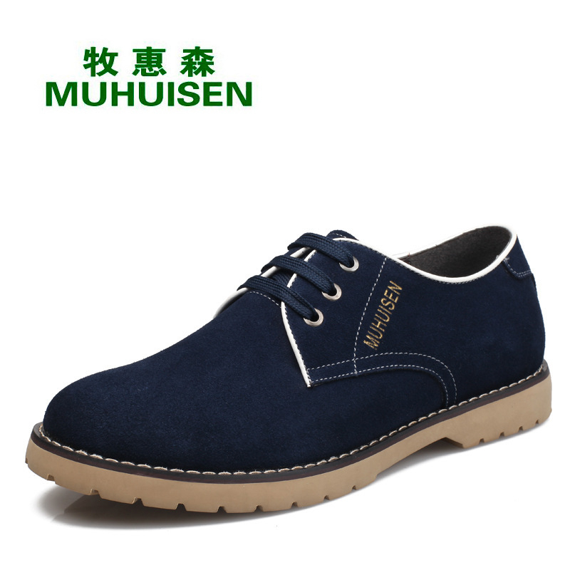 Men Casual Shoes Low Top Lace Up Martin Shoes Genuine Leather Flat Shoes Round Toe Trainers Flats Zapatillas Deportivas XK052705 2016 hot low top wrinkled skin cockles trainers kanye west chaussure flats lace up mens shoes zapatos mujer casual shoes