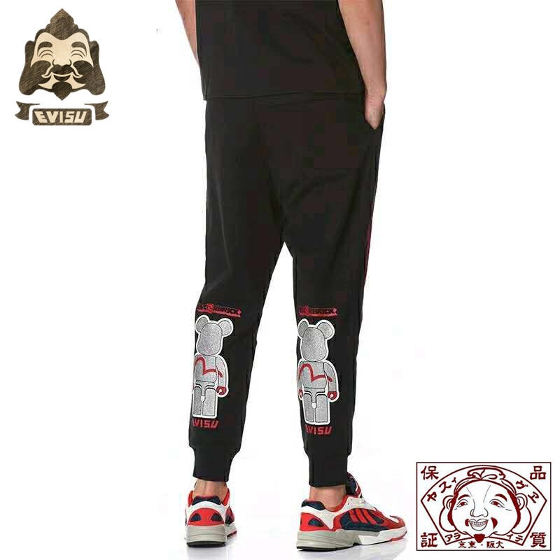 2019 Tide Brand Evisu Men's Trousers Violent Bear Joint Name Wild Cotton Breathable Sweatpants Casual Pants Men's Pants 712
