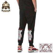 2019 Tide Brand Evisu Mens Trousers Violent Bear Joint Name Wild Cotton Breathable Sweatpants Casual Pants 712