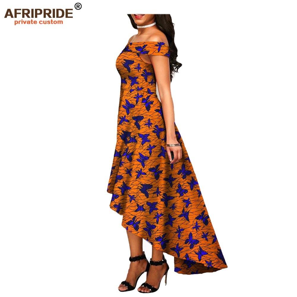 2018 africain automne longue robe pour les femmes AFRIRPRIDE sans manches épaule dénudée sans bretelles cheville longueur femmes coton robe A7225123
