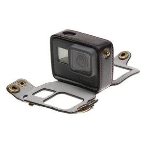 Image 5 - Custodia in pelle di Protezione della copertura PER Go Pro Hero 7 6 5 52 MILLIMETRI UV Lens Filter cap BORSA per GoPro hero 7 6 5 Accessori Macchina Fotografica di Azione