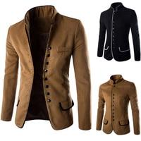 2018 New Fashion Mens Pure Color Formal Dress Jackets Black Camel Slim Elegant Men Business Hotel Banquet Blazer Jacket