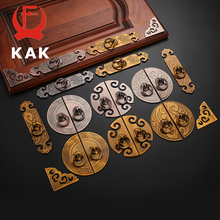 KAK 2PCS Antique Bronze Cabinet Handles Vintage Chinese Style Drawer Knobs Wardrobe Door Handles Furniture Handle Hardware
