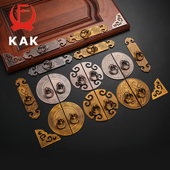 KAK 2PCS Antique Bronze Cabinet Handles Vintage Chinese Style Drawer Knobs Wardrobe Door Handles Furniture Handle Hardware antique bronze sculpture luxury hotel clubs handle chinese glass door wooden door handles villa handle