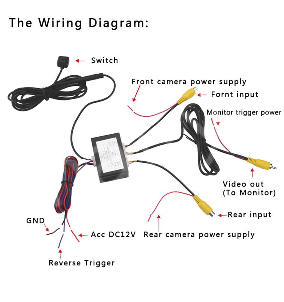 Sinairyu Car Parking Camera Video Channel Converter Auto Front Electrical Wiring Diagrams View Power
