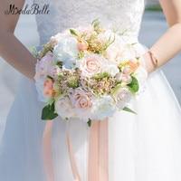 Modabelle Champagne Rose Bridal Bouquet Artificial White Flower Wedding Bouquets Bride Holding Bouquet Decoration Mariage