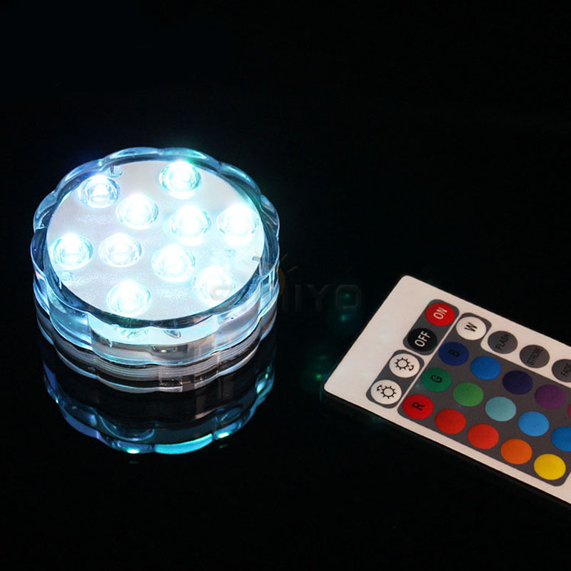 Led Lamps Lights & Lighting Honest Underwater Submersible Vase 10 Led Remote Controll Candle Light Hookah Shisha Accessories For Hot Tub,pond,pool,aquarium,party