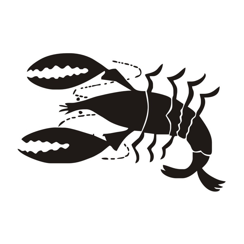 Kitchen Funny Wall Decal A Large Size Red Lobster Vinyl Adhesive Wall Sticker Dining Room Kitchen Wall Art Mural Home Decor