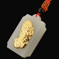 TJP 2018 Good Quality Wholesale Discount Jade Pendants For Men Women brave troops Free Shipping Necklaces