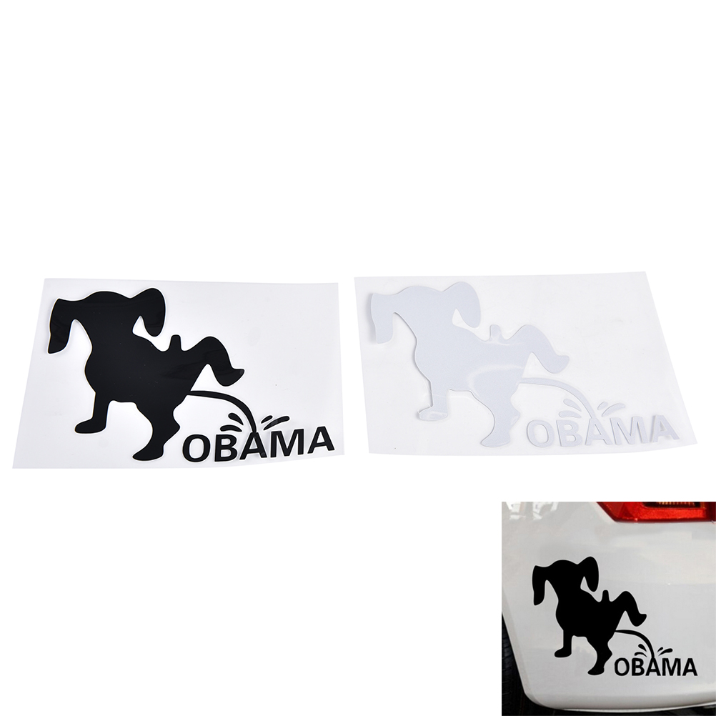 hot scan piss 1PC New Arrival Funny USA Car Sticker Dog Pee Piss ON ANTI OBAMA JDM Label  Vinyl