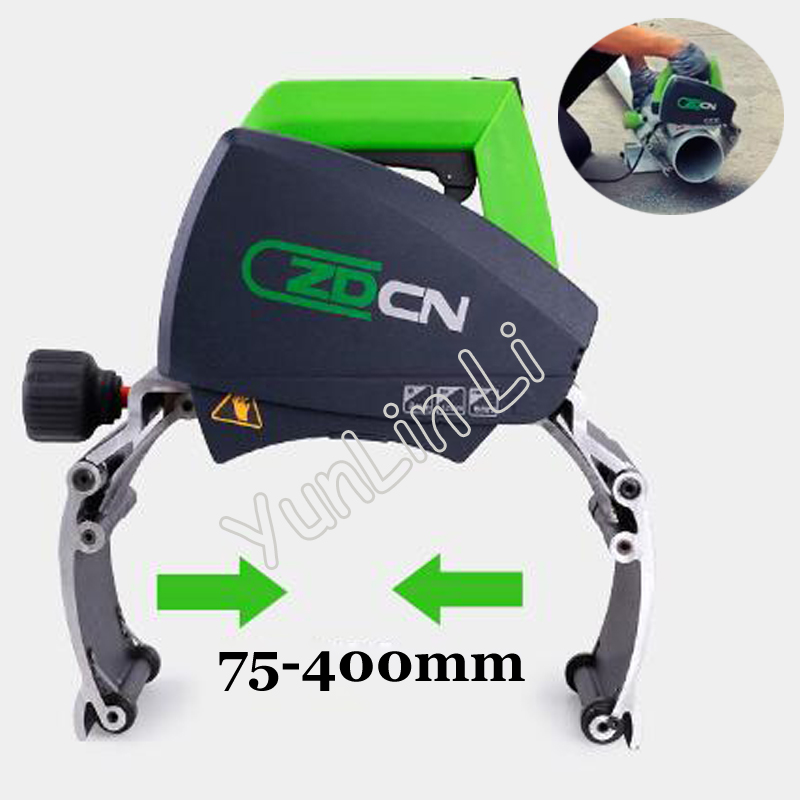 Steel Pipe Cutting Machine Portable Plastic Tube Cutter 220V Electric Iron Saw Stainless Steel Pipe Sawing Machine ZD400 pipe tube belt sanders polisher stainless steel tube polishing machine