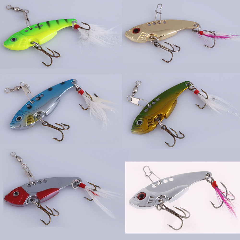 6 colors metal spoon fishing fishing lure crankbait for Spoon fishing for bass