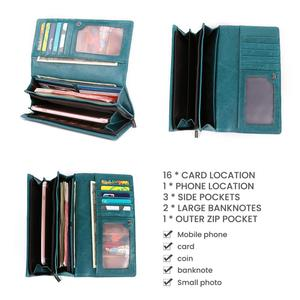 Image 5 - Joyir 本革の女性の財布多機能 rfid 財布ブランド財布 carteira ファッション女性カードホルダー財布電話バッグ