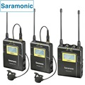 Saramonic UwMic9 Broadcast UHF Camera Wireless Lavalier Microphone System 2 Transmitters & 1 Receiver for Canon DSLR & Camcorder