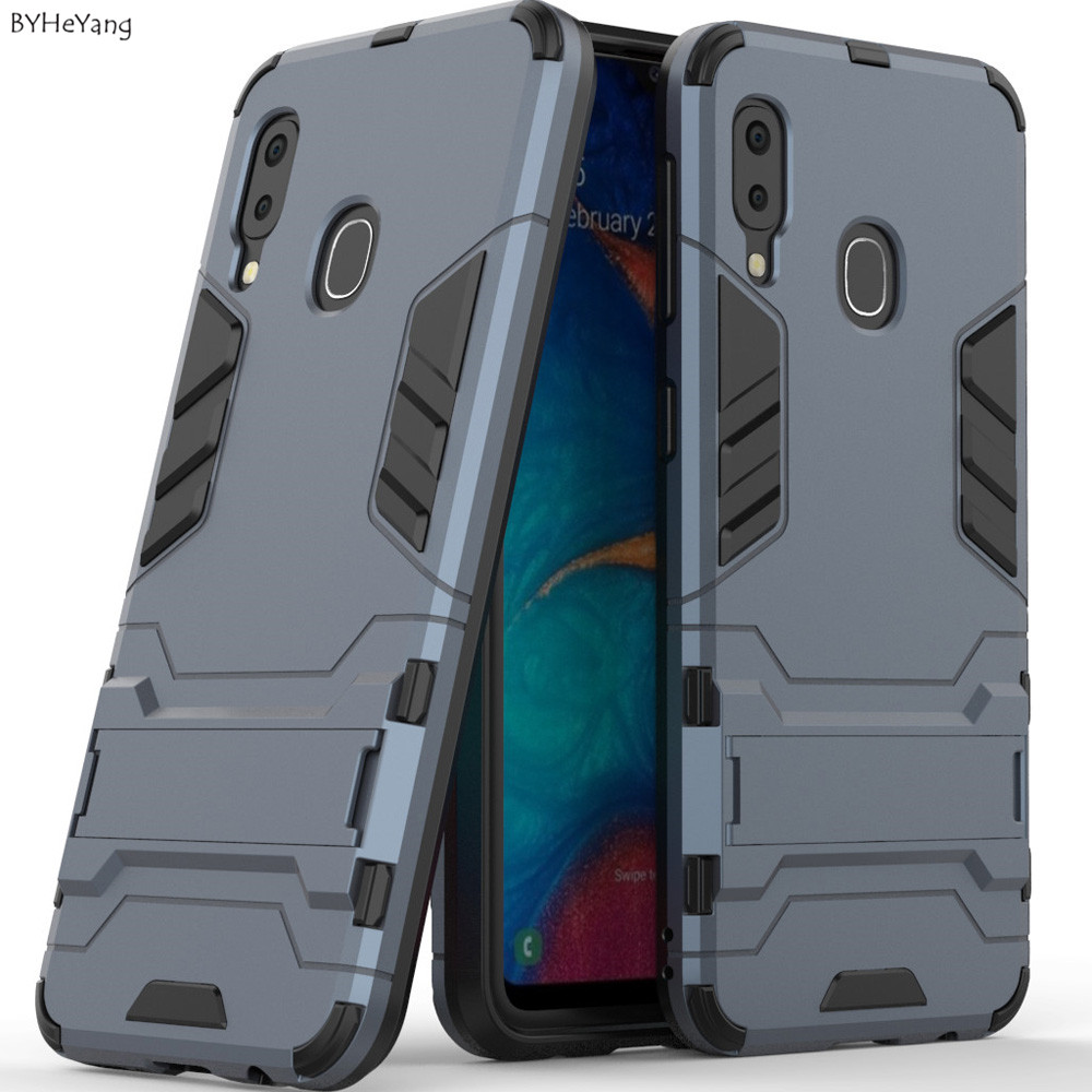 A20e Armor 2 In 1 Case For Samsung Galaxy A20E 2019 Case ShockProof Robot Kickstand Silicone Bumper For Samsung A20 E Cover Case