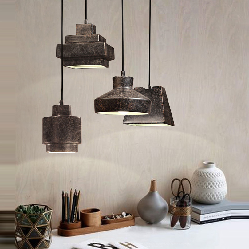 single hanging lights Retro Rope Lights Loft Vintage Lamp Bedroom Dining room Pendant lamps Single Head Bar Hanging Lamps home a1 master bedroom living room lamp crystal pendant lights dining room lamp european style dual use fashion pendant lamps