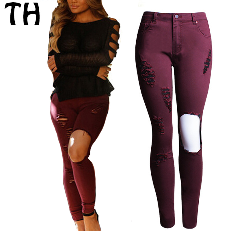 Popular Red Jeans Fashion-Buy Cheap Red Jeans Fashion lots from ...