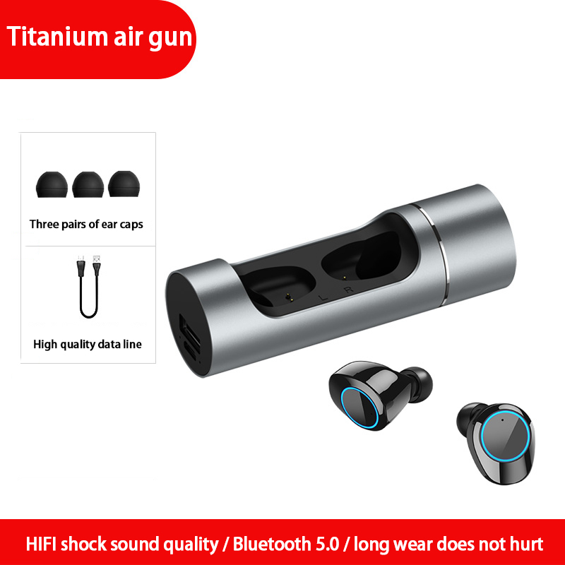 K-01 Wireless Bluetooth Earbuds True Bluetooth 5.0 Earphone Twins Stereo In-Ear TWS with Mic Portable Battery Storage Box
