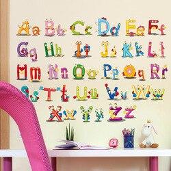 Home Decor Decoration ABC English alphabet Minnie Wall Stickers Vinyl Mural Alphabet Decals Kids Children Lovely Nursery
