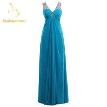 Женское шифоновое вечернее платье bealegantom голубое длинное
