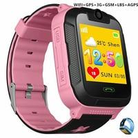 Kids Smart Watches Wifi GPS 3G GSM Girls Boy Camera Clock Nano Sim Card LBS Mobile Smartwatch Fitness Pedometer Bracelet Wrist