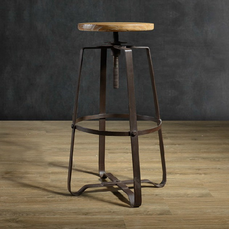 American Iron vintage wood bar stools antirust living room chairs do the  old antique bar chair rotating high chairs|chair cushions and pads|chair  basechair style - AliExpress