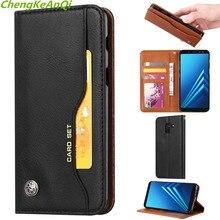 Кожаный бумажник чехол для samsung galaxy A8 2018 A530F Роскошные Флип Кожа PU телефон задняя крышка сумка Чехлы для samsung a8 плюс A730F