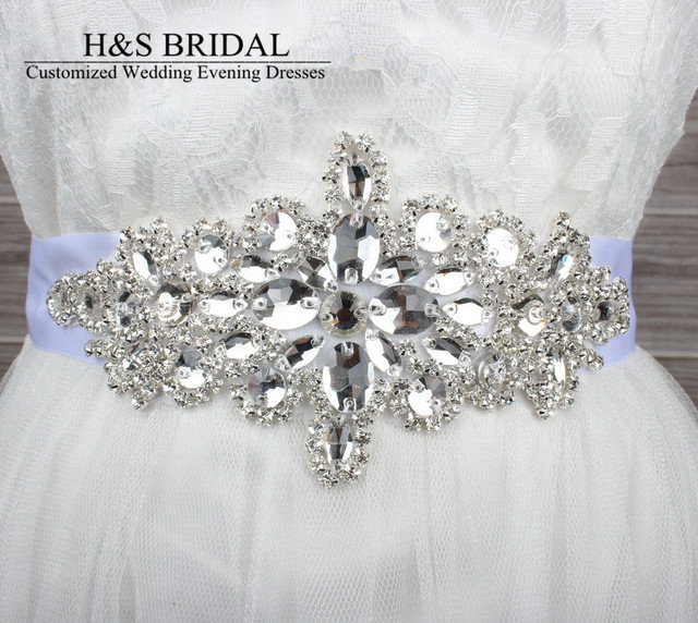 Hot Glass Crystal Bridal Belt Handmade Rhinestone Czech Stones Wedding Dress Waistband Bridal Sashs Wedding Accessories