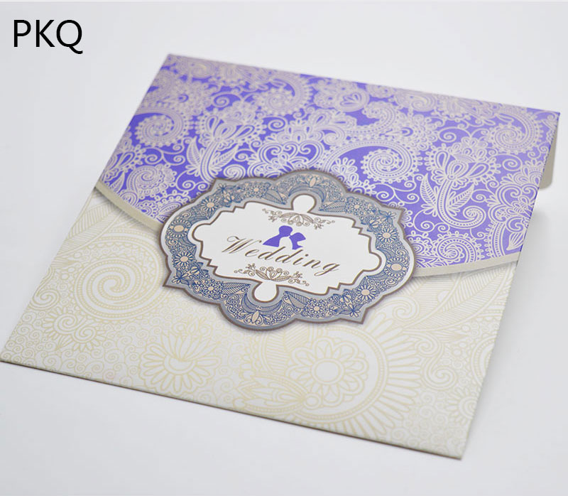100pcs Purple Color Paper Wedding Invitation Gift Envelope Small