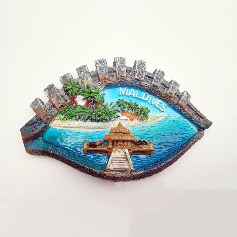 1 Stück Berühmte Auge Geformt Malediven Kühlschrank Magneten Reise Tourist Souvenirs 3d Insel Landschaft Kühlschrank Magnetischen Aufkleber Zu Den Ersten äHnlichen Produkten ZäHlen