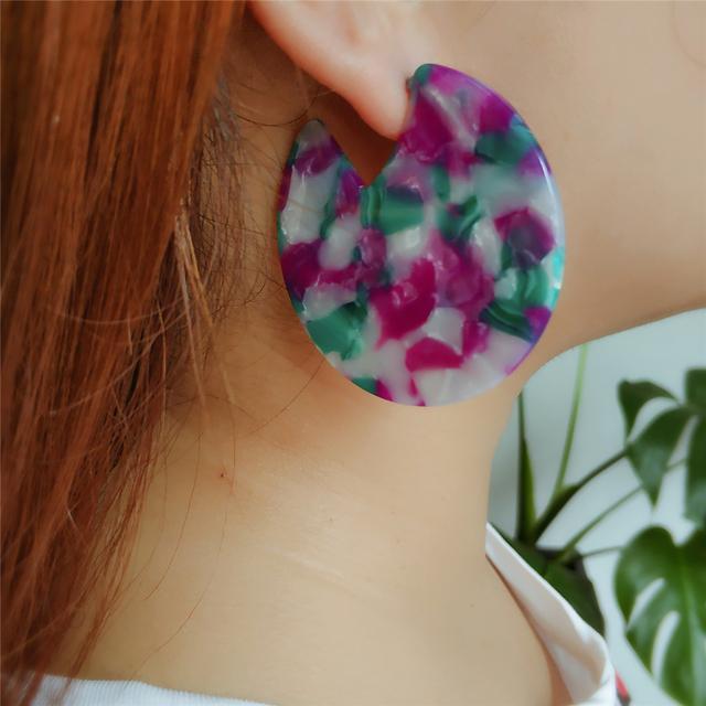 Candy Tortoise Shell Earrings For Women