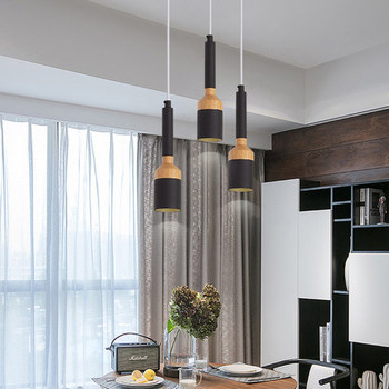 Triple Led Pendant Lights With Metal Lampshade For Dining