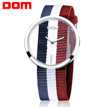 Mulheres relógios da marca DOM relógio de quartzo casual Unique luxury Elegante Oco esqueleto relógios simples Nylon esporte relógios de pulso LP-205