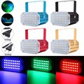 27W Strobe Flash 5050 SMD 36LED RGB Laser Projector Stage Light Mini LED Lighting Party KTV DJ Disco 90-240V Gold/Black/Red/Blue