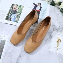 Roni Bouker นุ่มหนังรองเท้าส้นสูงรองเท้าผู้หญิงสบายๆรองเท้า Chic ผู้หญิงสีน้ำตาล Heel Beige Dropshipping