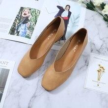 Roni Bouker kadın yumuşak deri düşük topuklu ayakkabılar kadın rahat rahat yürüyüş ayakkabısı şık kahverengi kadın topuk bej Dropshipping