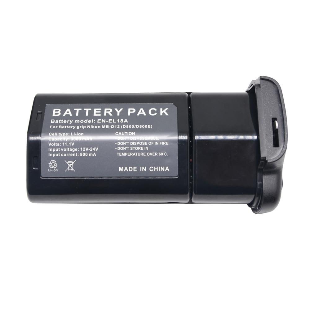 Mcoplus EN-EL18A EN-EL18 Battery + Charger For Nikon D850 D800 D800E D810 Camera ,MB-D18 MB-D12 MBD12 Battery Grip