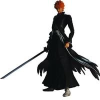 26cm Anime Action Figure BLEACH Play Ka Kurosaki Ichigo Black Ver PVC Model Cosplay Children Doll Brand New
