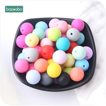 Bopoobo Baby Care Accessories 20mm 10pc Chewing Silicone Beads Teether Diy Jewelry Sensory Toys Nursing Bracelet