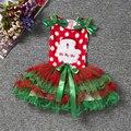 Bebê Natal Roupas De Menina Nova Moda Fantasia Bola Vestidos Das Crianças Das Crianças Trajes de Festa de Carnaval Do Feliz Natal Para A Criança 1-5