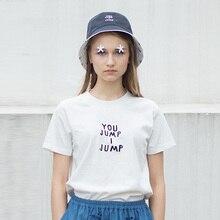 Высокое качество пара футболка черный, Белый цвет футболки женские мультфильм английский вышивка классический XS-XL негабаритных человек футболки новые летние
