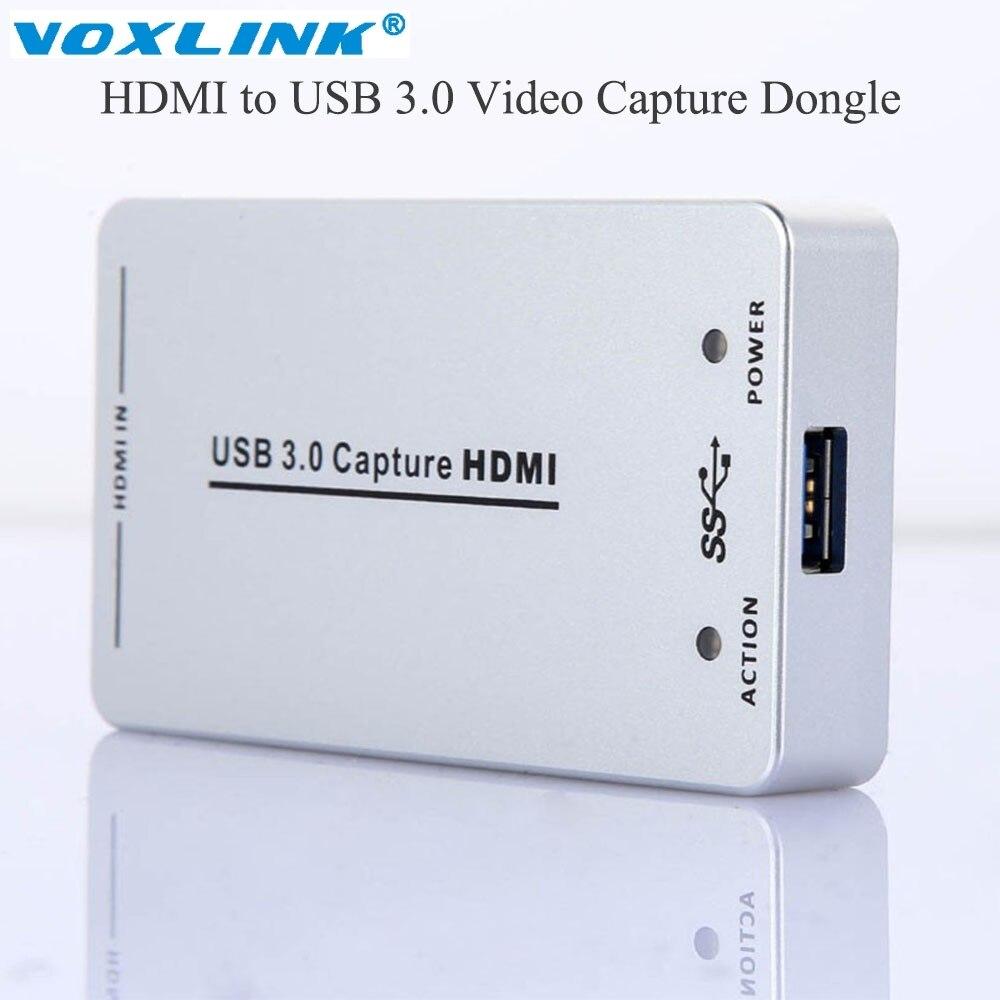 VOXLINK XI100D UVC USB 3.0 USB 2.0 1080P 60FPS HDMI Capture Dongle UAC/UVC Audio Video USB Capture HDMI