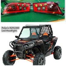 Red Polaris RZR Accessories UTV ATV LED Headlight kit Lamp for Polaris Razor 1000 2014-2016 RZR XP 4 1000 2016 RZR XP 4 TURBO